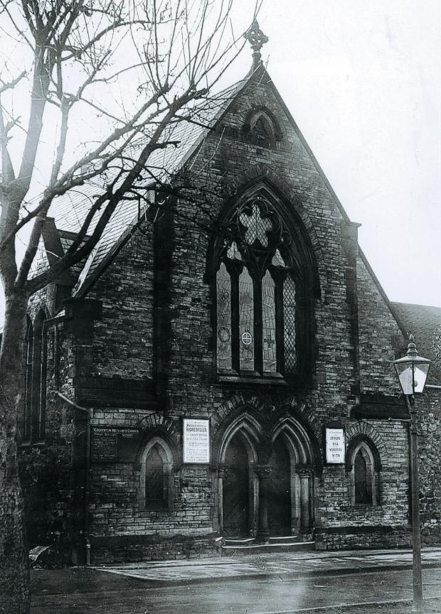 The Northern Echo: ANNIVERSARY APPROACHES: 140-year-old Cockerton Methodist Church seen here in 1950