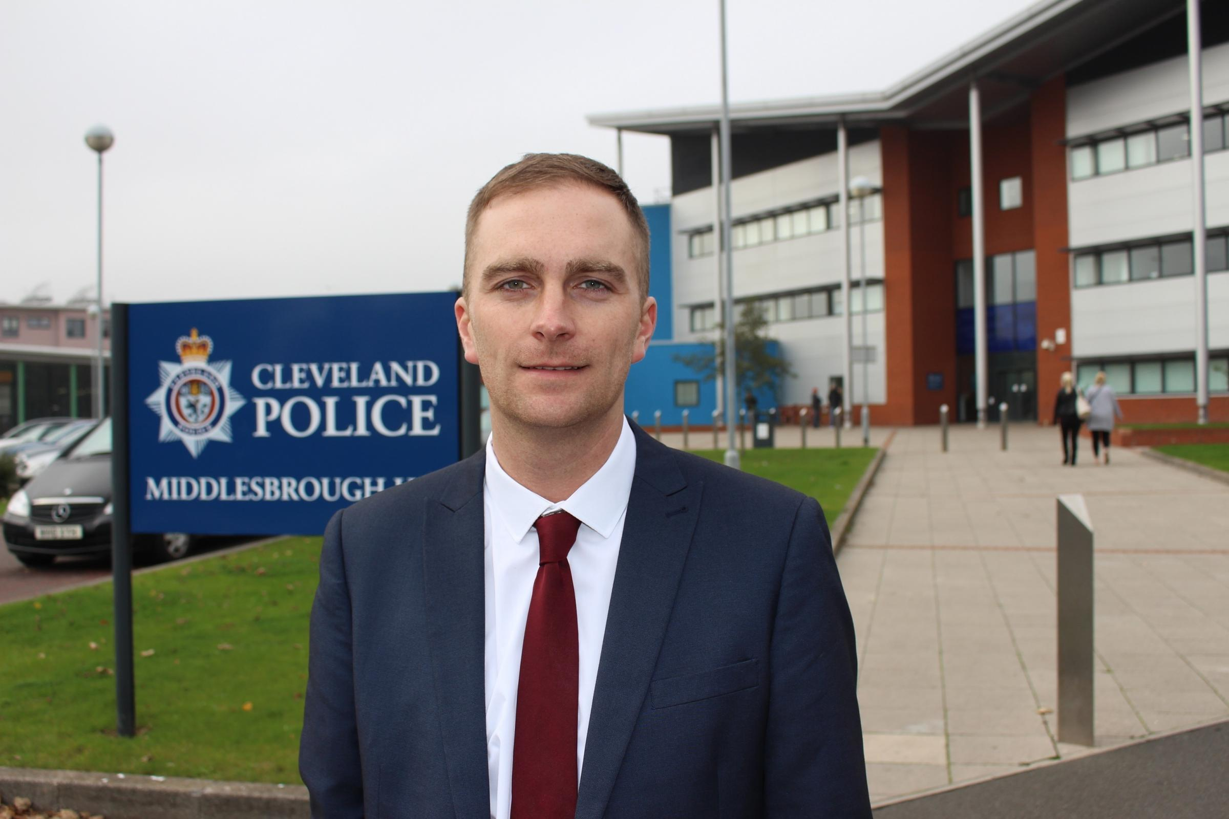 Matthew Vickers, who has been selected as the Conservative candidate for Cleveland's Police and Crime Commissioner