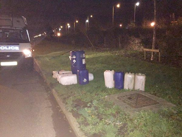 Darlington Special Constabulary officers made the arrest after chasing a suspect thought to have stolen 200 litres of fuel near Redhall.
