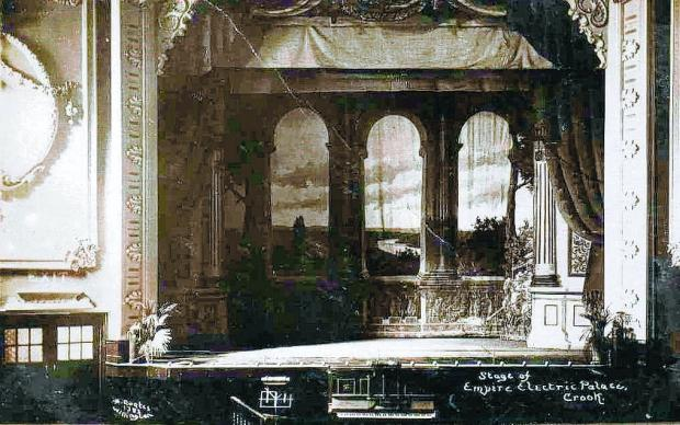 The Northern Echo: ON THE STAGE: Much of the mouldings around the Empire's arch remain from this early postcard. Note the organ in the centre of the picture for accompanying the silent movies