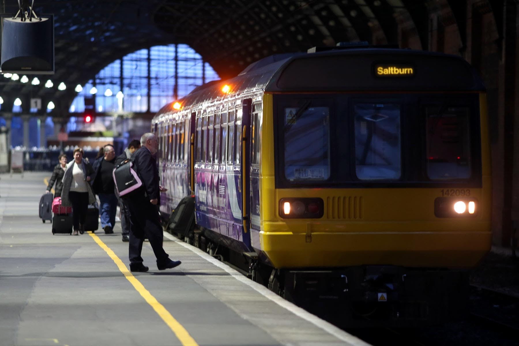 A pacer train bound for Saltburn arrives at Darlington Railway Station. Picture: CHRIS BOOTH