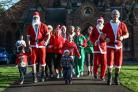 Santas and elves doing a 4k run to raise money for the Wish upon a Star charity in Sedgefield. Picture: TOM BANKS (50295967)