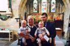 JOY: Stacey Donnelly and her partner, Stephen, with twins Oliver and Isaac, who were conceived after she received IVF treatment at Hartlepool University Hospital