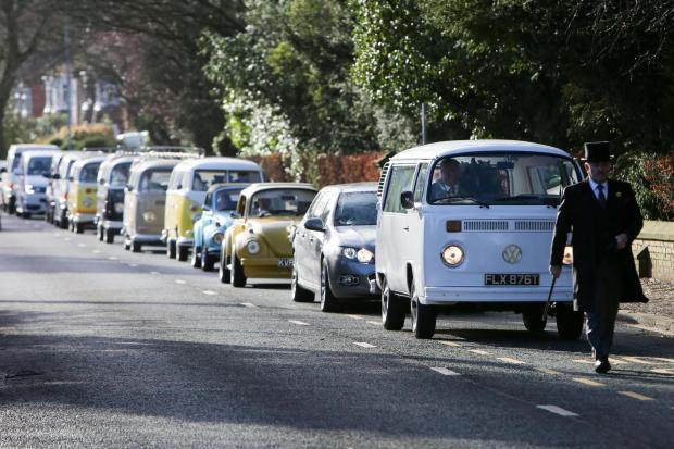 The Northern Echo: The funeral of Tony Varga, a former chairman of the Northeast VW club. Picture: TOM BANKS