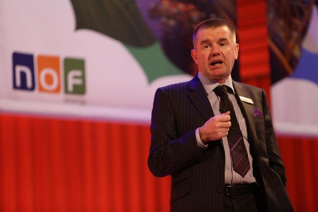WELCOME: George Rafferty, NOF Energy chief executive, speaks at last year's conference