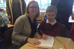 Parents join children in classes at Ox Close Primary School, Spennymoor