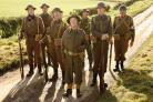 Dad's Army.Blake Harrison, Danny Mays, Tom Courtenay, Toby Jones, Bill Paterson, Bill Nighy and Michael Gambon.