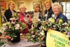 SHOW COLOURS: Members of Darlington Flower Club Picture: ANDY LAMB.
