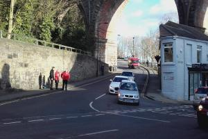 Road closed and railway station evacuated after major gas leak