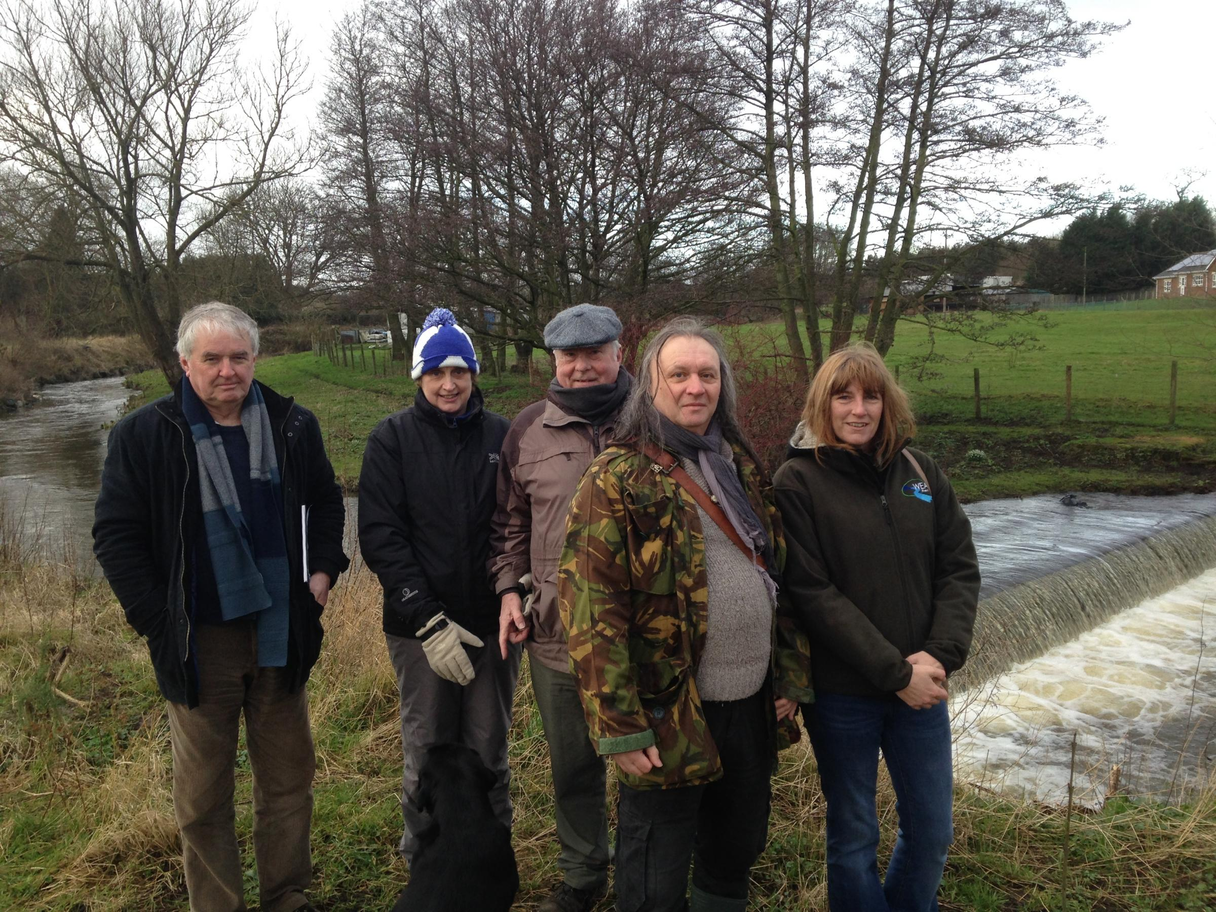 Martin Roberts, Ruth Wright, Mike Dunn, Stephen Warton and Diane Maughan are all working on the River Gaunless - for People and Wildlife Project