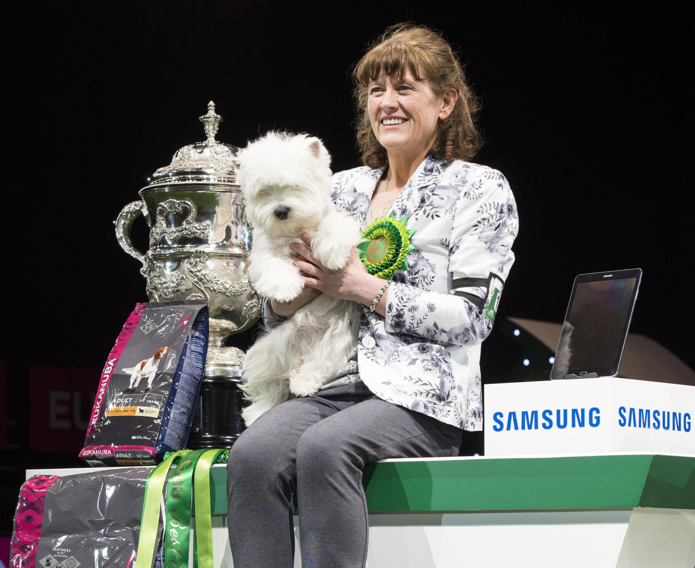 Marie Burns with Crufts champion Devon