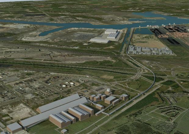 The Northern Echo: VISION: An artist's impression of Sirius Minerals' materials handling site on Teesside