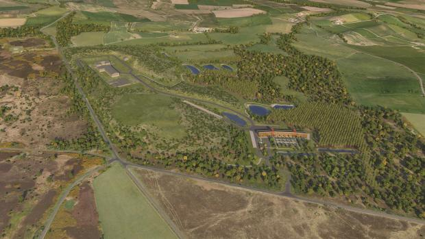 The Northern Echo: SITE: An artist's impression of Sirius Minerals' mine. Whitby is to the north of the image