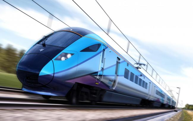 CONTRACT: Hitachi Rail Europe says it will deliver 95 carriages for FirstGroup's TransPennine Express franchise. Pictured is an artist's impression of one of the trains