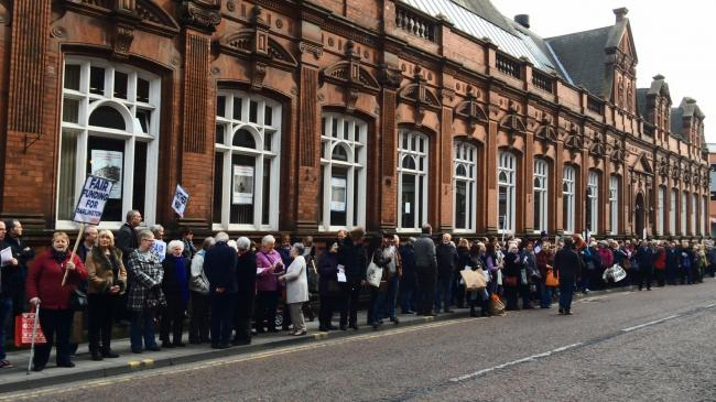 The Darlington for Culture organised 'Save Our Library' protest outside Darlington's Crown Street Library. Picture: CHARLOTTE BOWE