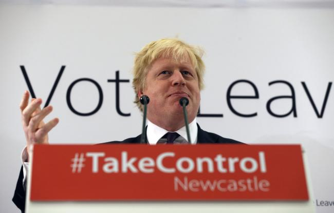 Boris Johnson addresses supporters at a Vote Leave meeting at the Centre for Life in Newcastle, as part of a series of events to launch the Vote Leave campaign. Picture: Owen Humphreys/PA Wire