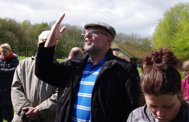 OPPOSITION: Protesters demonstrating against housing at Flatts Lane Country Park at the weekend