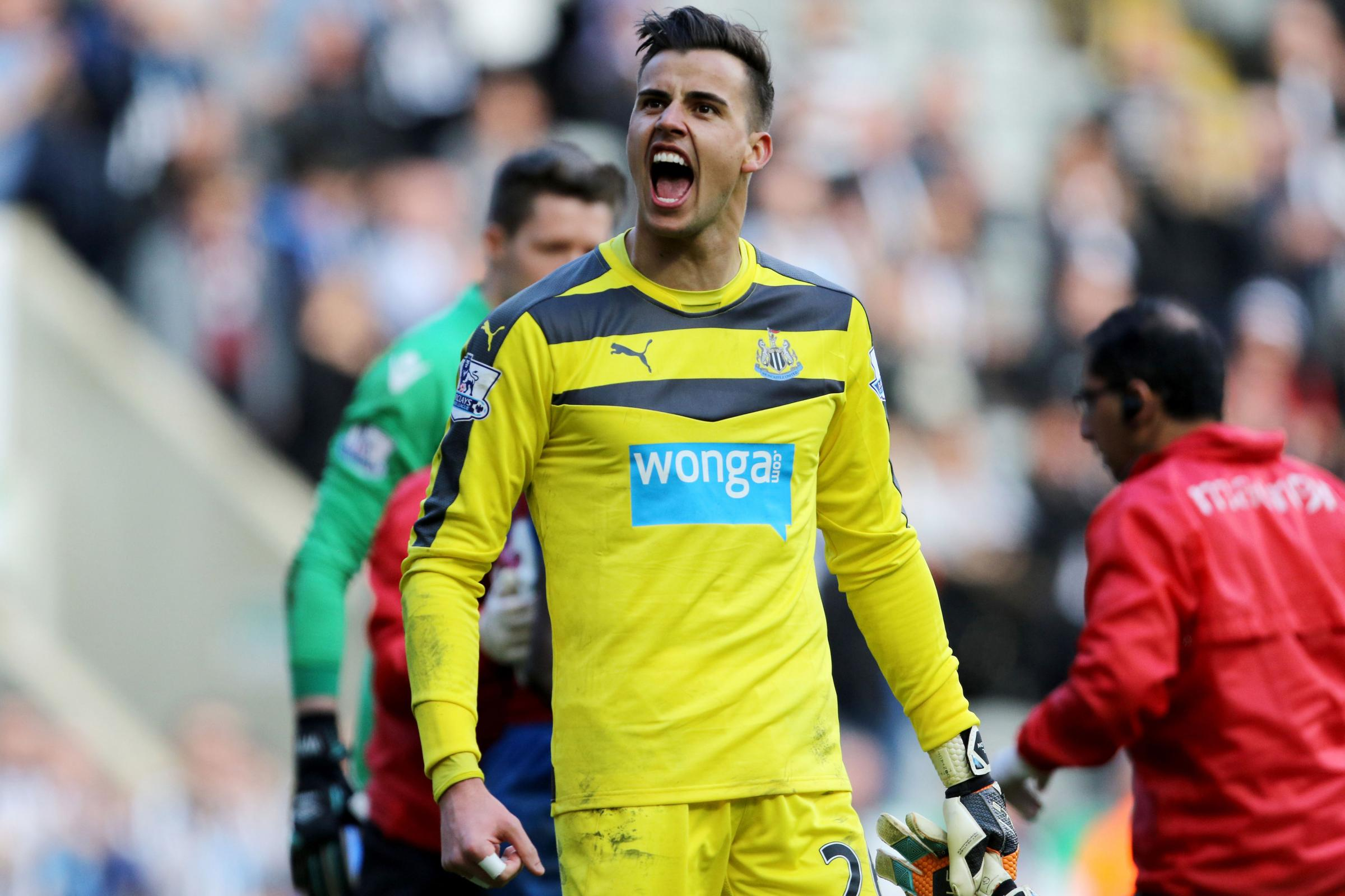 KEY MAN: Karl Darlow has emerged as a pivotal performer since establishing himself in Newcastle's first team
