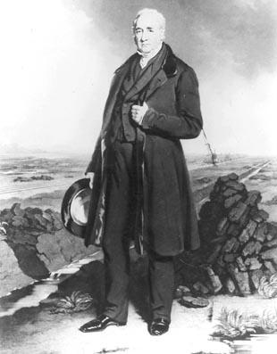 George Stephenson: The engineer in charge of building the Stockton and Darlington Railway