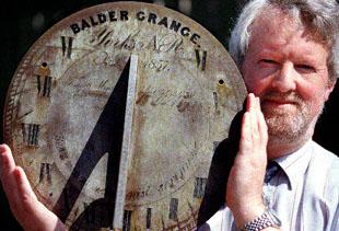 The Northern Echo: Timeley momento: Richard Boothroyd with Francis Gibson 's sundial from Balder Grange.