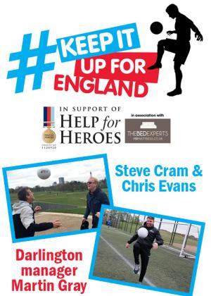 The Northern Echo: Take on the #KeepitupforEngland challenge and help raise money for Help for Heroes to show your support for our wounded veterans. Click here to see how you can get involved.