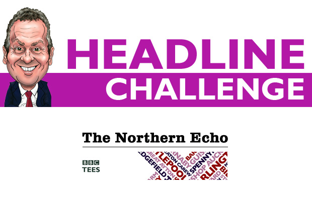 HEADLINE CHALLENGE: The Headline Challenge is played out every week day between The Northern Echo's editor Peter Barron, left, and BBC Tees