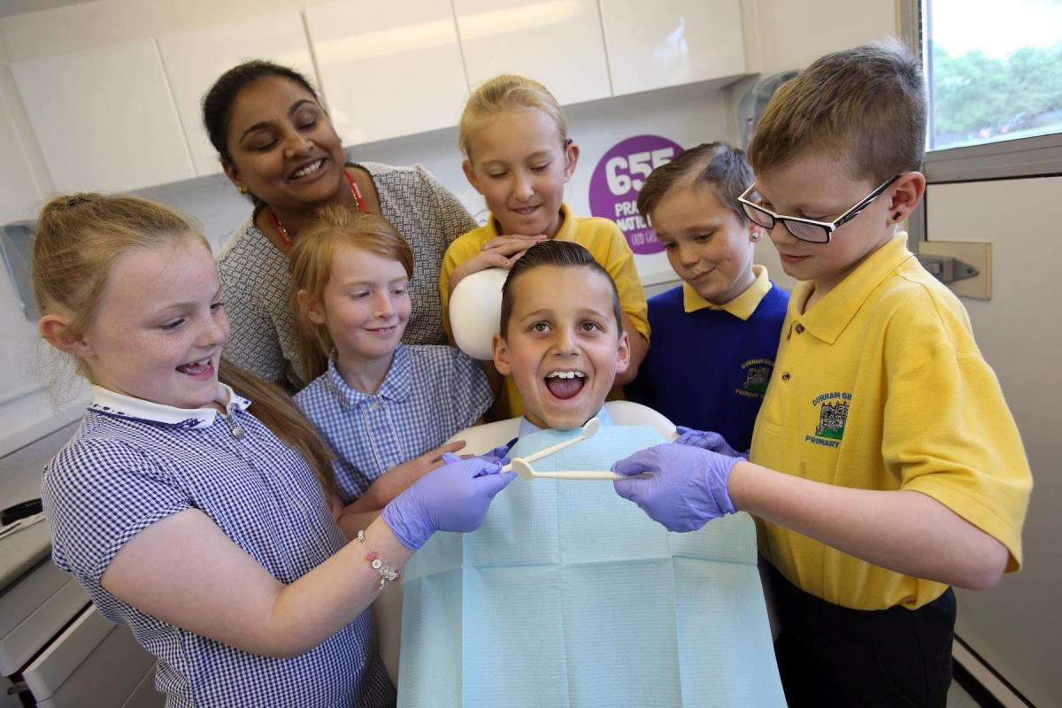 Mobile Dentist Visits Durham To Talk About Teeth The Northern Echo
