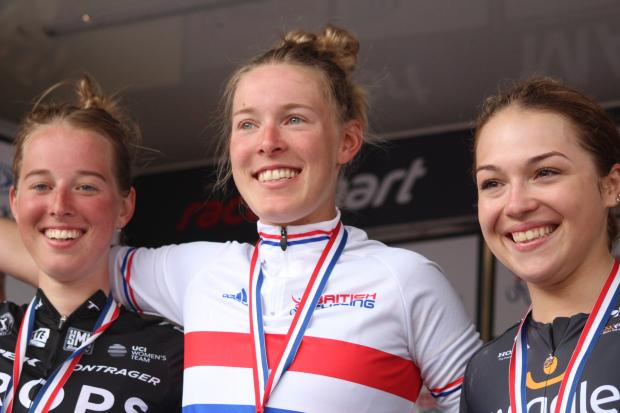 The Northern Echo: Alice Barnes, Hannah Barnes and Lucy Garner on the podium