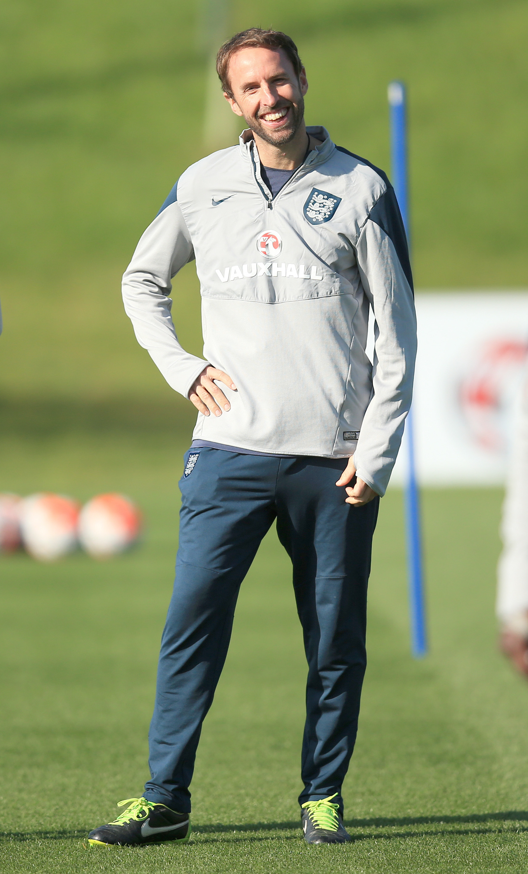 Big chance: Gareth Southgate is set for his England bow