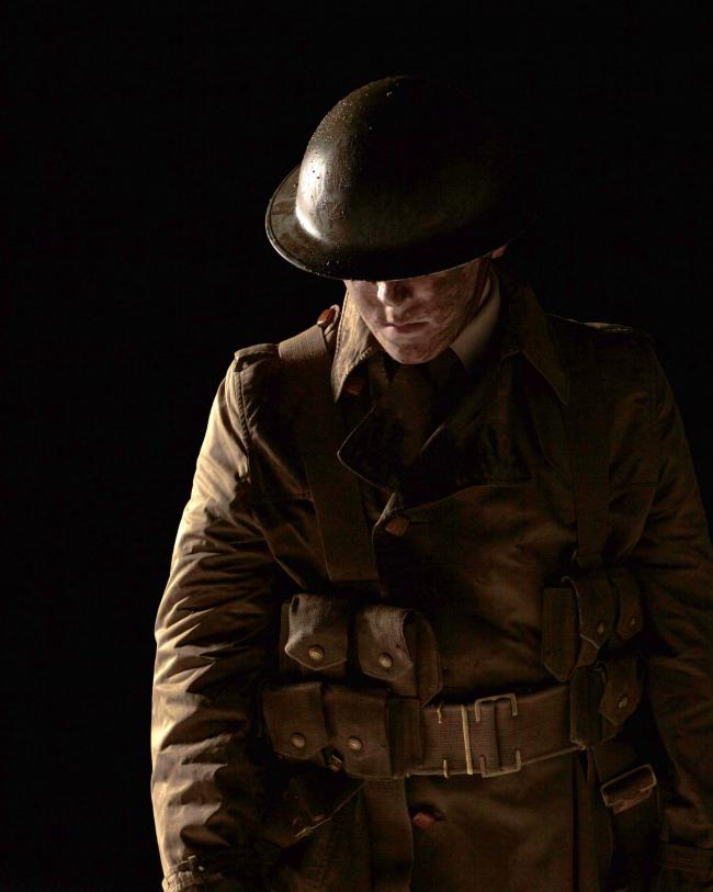A LIVING HISTORY:  An actor from No Turning Back, a walkthrough exhibition giving visitors a unique 'living' experience of the battlefields of the Somme
