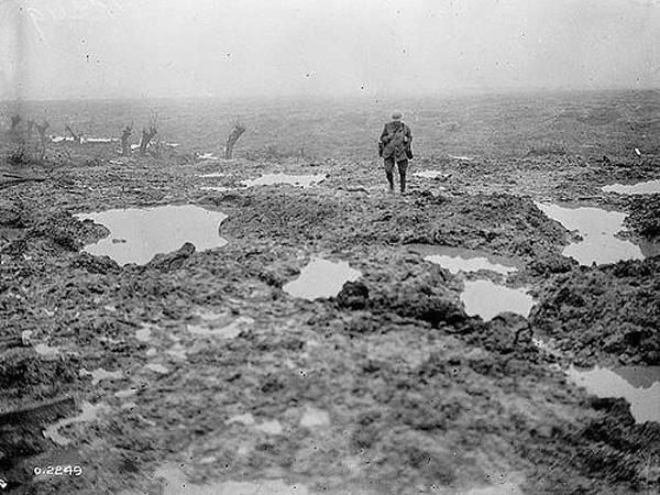 MISERABLE: In the second half of June, the Durham Pals endured relentless rain and mud as the preparations for the Battle of the Somme continued