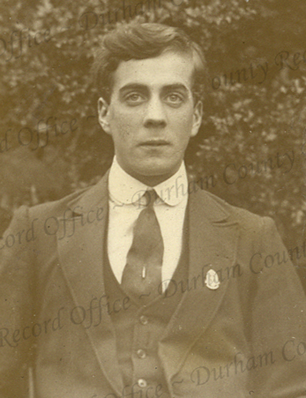 Teacher Arthur Corner who was 22 when he died from injuries sustained at the Battle of the Somme. Photograph reproduced by permission of Durham County Record Office and the Trustees of the former DLI