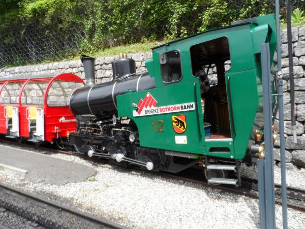 The Northern Echo: One of the famous 'angled' locos on the Brienz Rothorn Railway. Photo: Andrew Douglas
