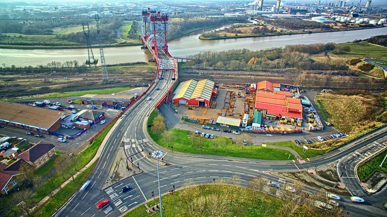 BASE: SM Thompson's Marathon Works is based next to Middlesbrough's Newport Bridge. The buildings to its right are not affected by the sale