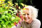 GREEN: Volunteer Alison Boddy tends to a fuchsia plant at the former Nature's World site in Middlesbrough.