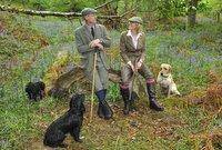 HIM AND HEIR: Lady Emma Ingilby, of Ripley   Castle, with gamekeeper Mick Johnson, who    feature in the calendar