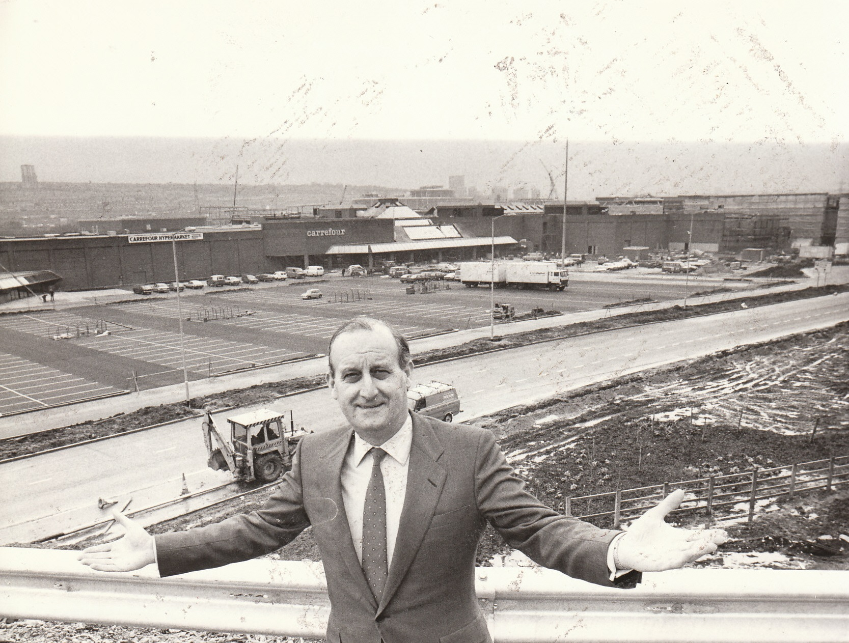 PROGRESS: Intu Properties says its Hammerson deal will create a stronger group. Its Gateshead MetroCentre was the vision of Sir John Hall, who is pictured at the site back in April 1986