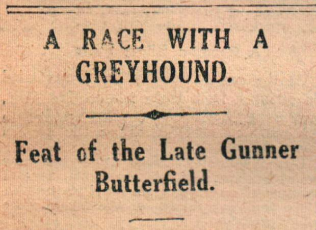 The Northern Echo: FAMOUS FEAT: How the Evening Despatch told of George's victorious race with a greyhound