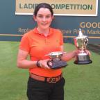 The Northern Echo: Champion: Jessica Hall with her North Region Ladies and Girls title at Ponteland