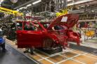 PRODUCTION: A Nissan Qashqai on the production line at the company's Sunderland plant