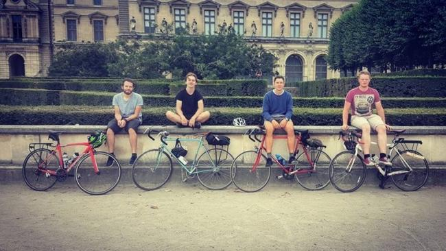 CYCLING: Tom Williams, 26, Jack Waghorn, 22, George Huxley, 22, and Lewis Hawkes, 22 will be tackling 100 mile cycling challenge