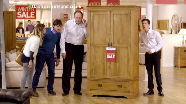 Oak Furniture Land's advert has been criticised by the ASA