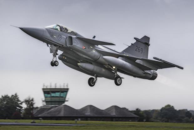 The Northern Echo: SOARING: A Gripen jet takes to the skies