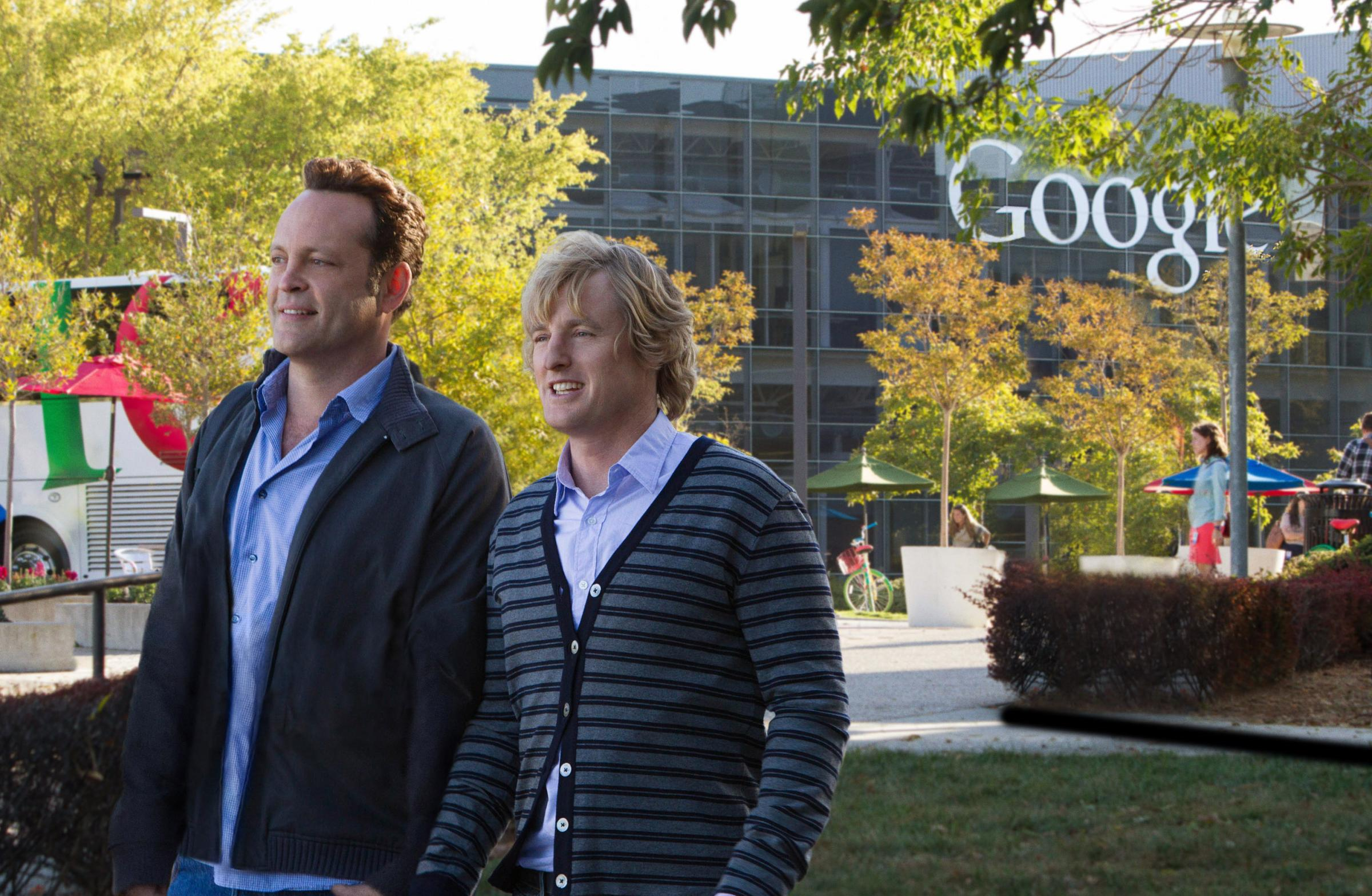 The Internship, made in 2013, starring Vince Vaughan and Owen Wilson as struggling seniors in a new-tech world dominated by youngsters desperately in search of paid work