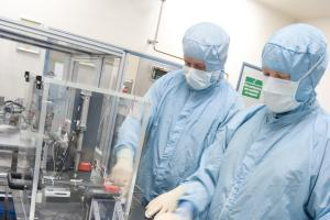 OPERATIONS: Workers prepare products at GlaxoSmithKline's Barnard Castle factory