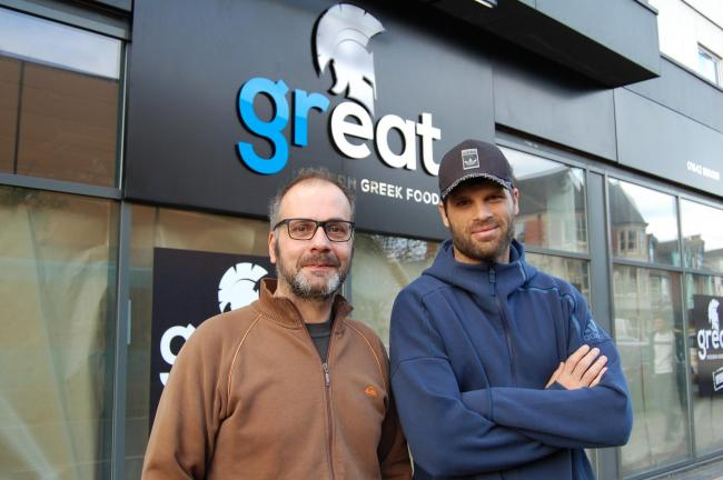 GREEK: Dimi Konstantopoulos (right) has opened Great with business partner Nikos Pitsoulis