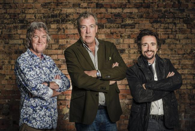 May, Clarkson and Hammond. Photo: Amazon Prime Video/PA Wire