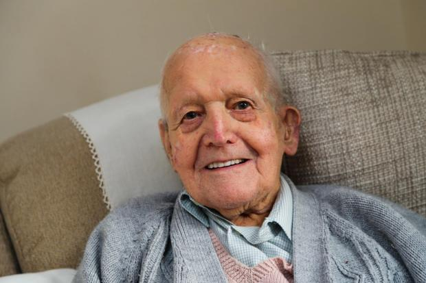The Northern Echo: Albert Hawman, of Darlington, is celebrating his 104th birthday. Picture: TOM BANKS