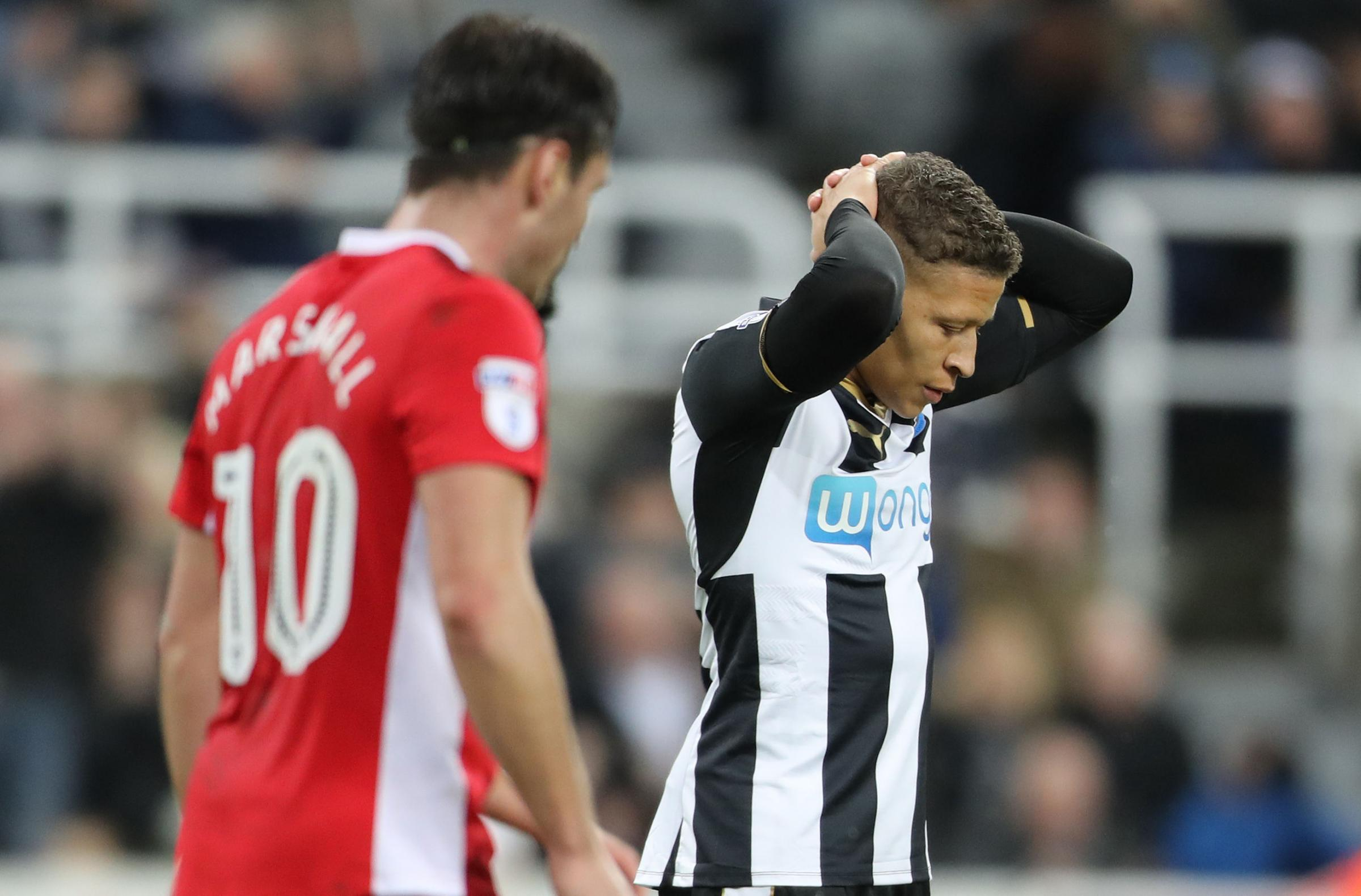Image result for dwight gayle newcastle sad