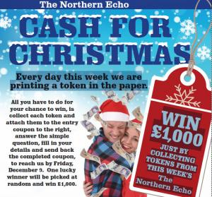 The Northern Echo: It's Cash for Christmas time at The Northern Echo. Every day this week we are